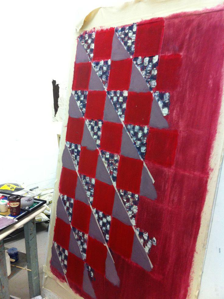 """October 2013 - Alannah Dymond.  Painting is 48"""" x 60"""""""