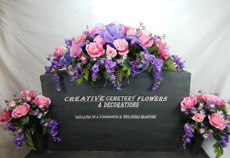 Details About Double Cemetery Flower Headstone Saddle