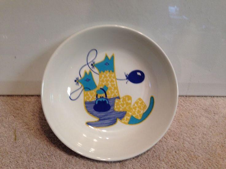 Rare Arabia Finland Kengu Child's Bowl by Gunvor Olin-Gronqvist Kangaroo 1970s