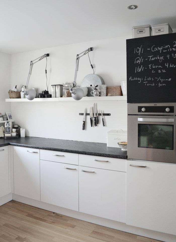 These IKEA lamps are a great/cheap idea for the kitchen