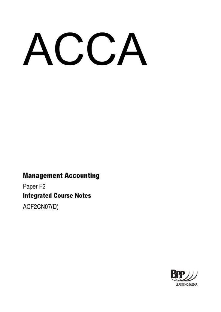 18 best accounting images on pinterest accounting beekeeping and f2 management accounting course notes bpp fandeluxe Image collections