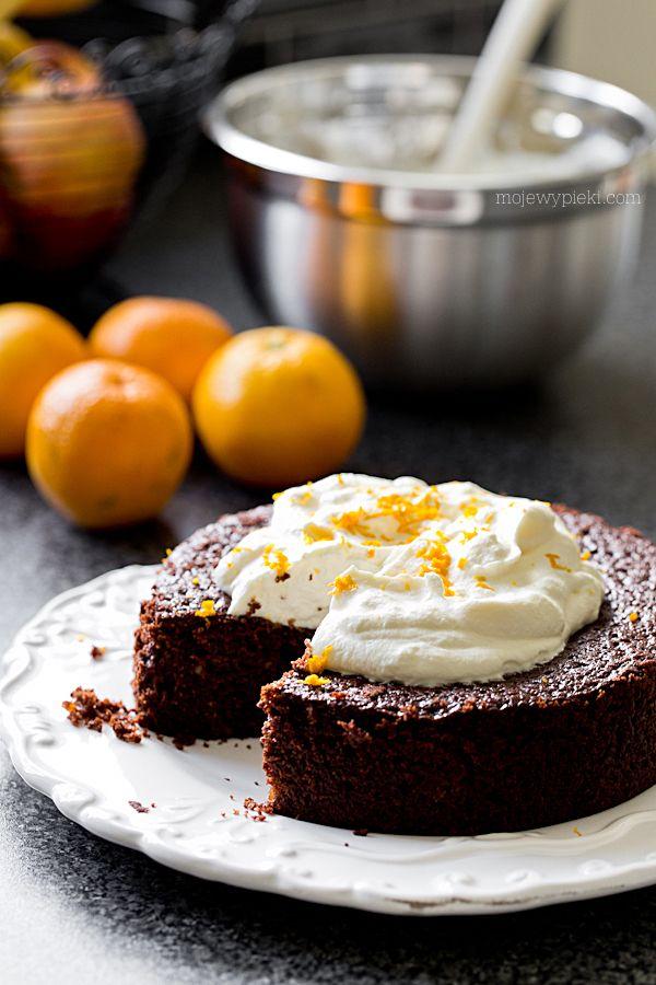 Čokoládový dort s pomerančovou marmeládou