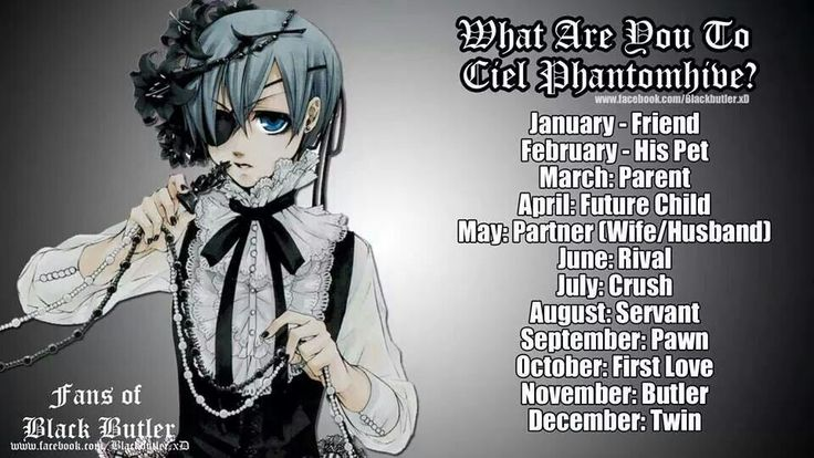 Black Butler (Birthday Game), I am only a servant.///// I KNEW IT I AM CIELS WIFE