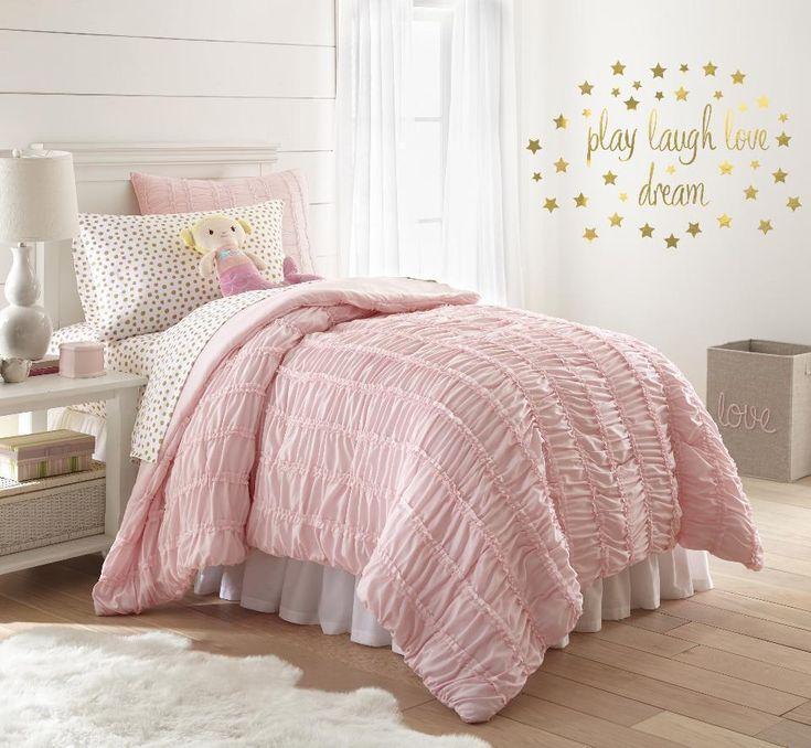 Levtex Kids Twin Comforter & Sham Bedding Set w/ Ruffles - Rosie #LevtexLLC