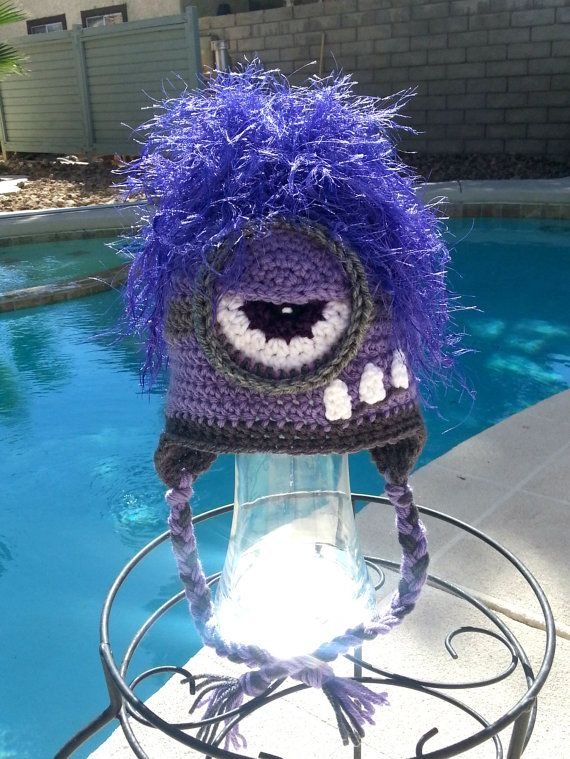 Hey, I found this really awesome Etsy listing at https://www.etsy.com/listing/223912387/crochet-minion-hatpurple-minionkids
