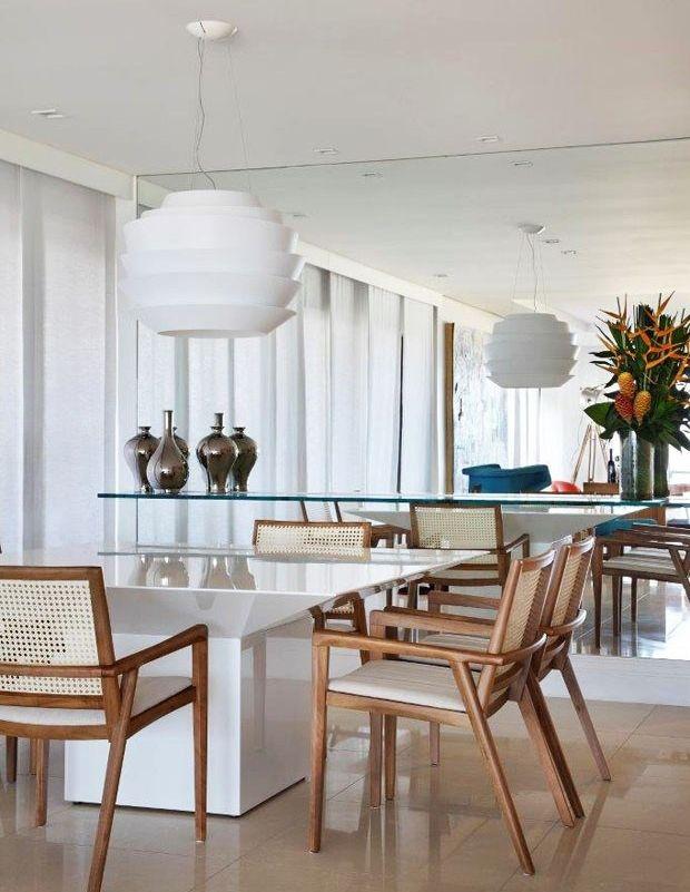 Mesa Sala De Jantar Retro ~  de sala de jantar, Sala com espelho and Combinação de sala de jantar