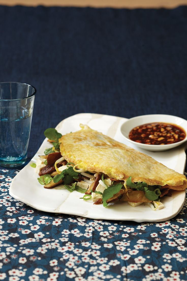Vietnamese Pancakes - -These thin, flat pancakes are a cross between crêpes and omelets.