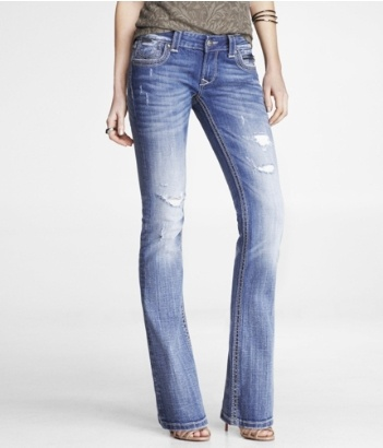 REROCK SUPER THICK STITCH BARELY BOOT JEAN   Express