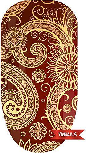 Red Paisley Full Nail Art Wrap by YRNails YRNails https://www.amazon.co.uk/dp/B00A92KA4K/ref=cm_sw_r_pi_dp_RN5kxb076G0TE