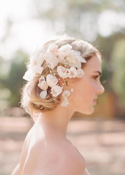 Handmade Lace Blossoms Comb by Twigs and Honey, photo by Elizabeth Messina, image found via Everly True