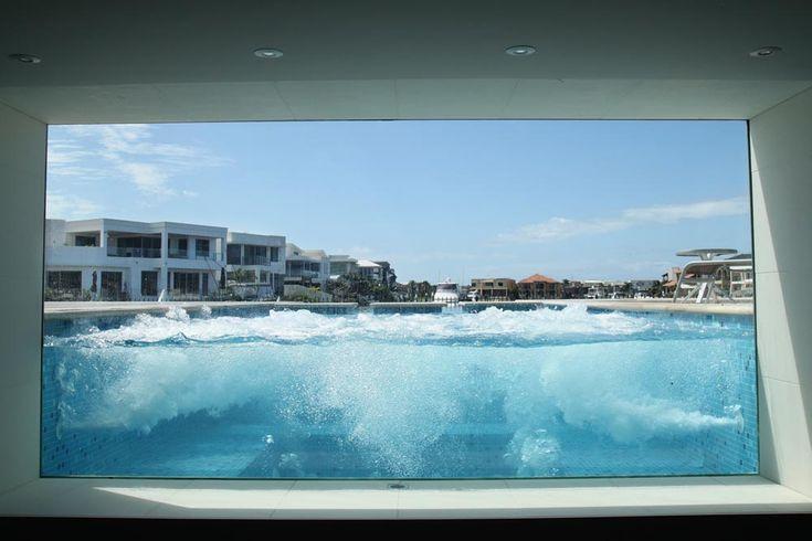 Pool window - Voodoo Glass, Molendinar QLD - http://www.voodooglass.com.au