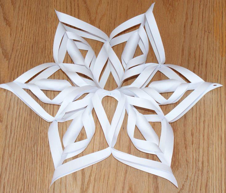 Best 20 3d snowflakes ideas on pinterest for Diy paper snowflakes 3d