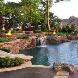 Eads Area Natural Pool & Backyard Resort Design. Repin and/or like if you want or have a pool at your house.