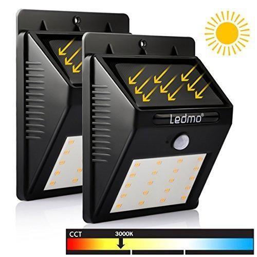 Oferta: 16.68€ Dto: -53%. Comprar Ofertas de LEDMO Luces Solares LED, 20 LED Luz de Solar de pared, blanco cálido 3000K PIR Sensor de movimiento y sensor ligero Super bri barato. ¡Mira las ofertas!