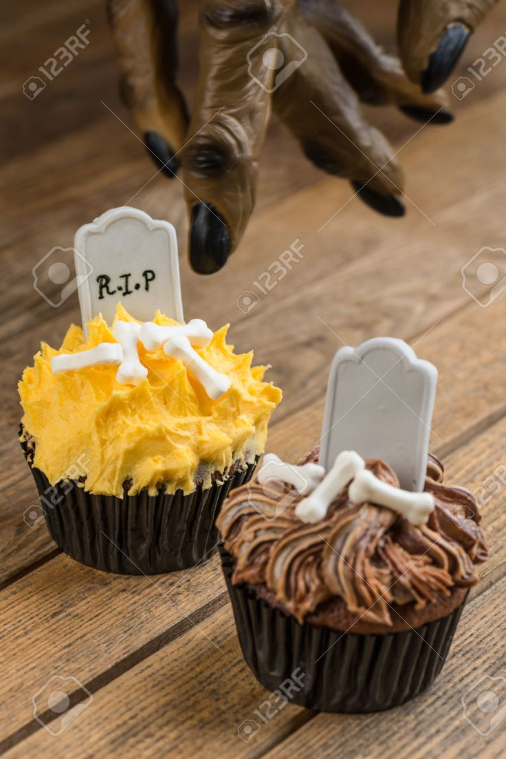 Trick or Treat concept Halloween Cupcakes