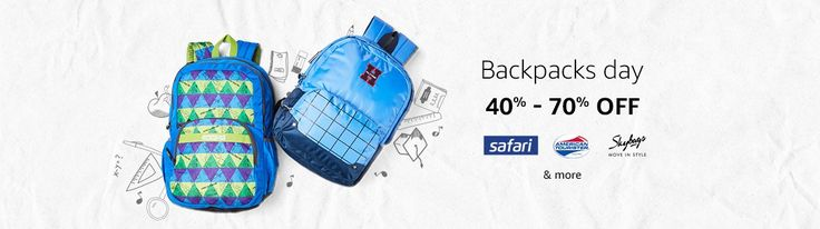 Get up to 70% off on Backpacks at Amazon India Related