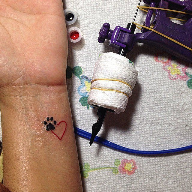 If you love animals, this tiny tattoo is perfect for you!