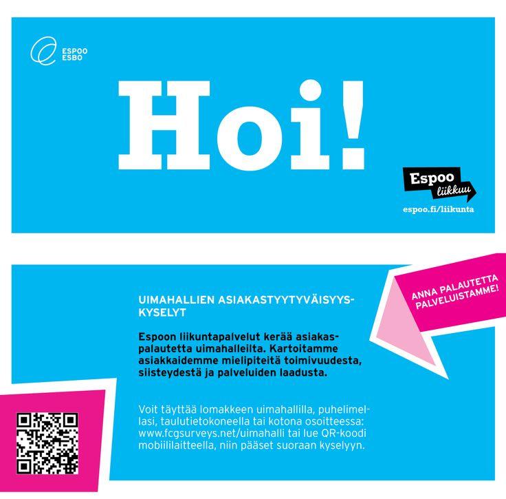 Espoo liikkuu -ilmeellä tehty flyer / Mainostoimisto RED / Syksy 2013