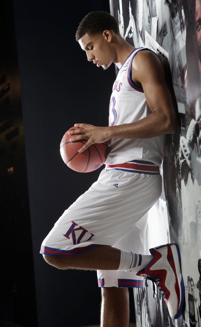 Sophomore Landen Lucas. 2014 KU men's basketball team media day, Oct. 2, 2014. #KU