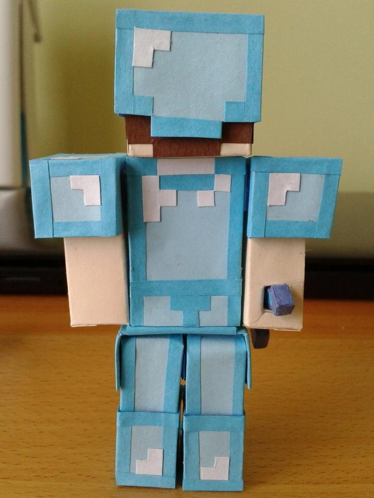 Minecraft Steve With Diamond Armor Deviantart More Like