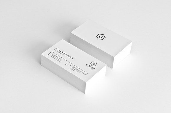 Simple Minimal Business Card 55 by nazdrag on @creativemarket