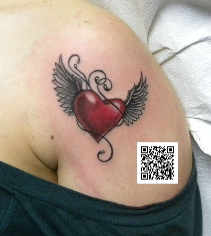 #cuore #ali #colorstattoo #tatuaggio #montefortetattoo2016