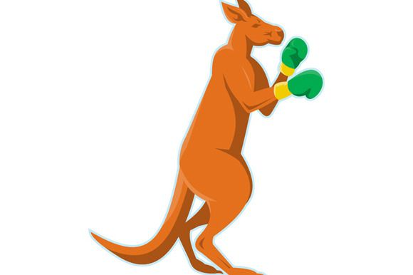 kangaroo boxer boxing retro by patrimonio on Creative Market