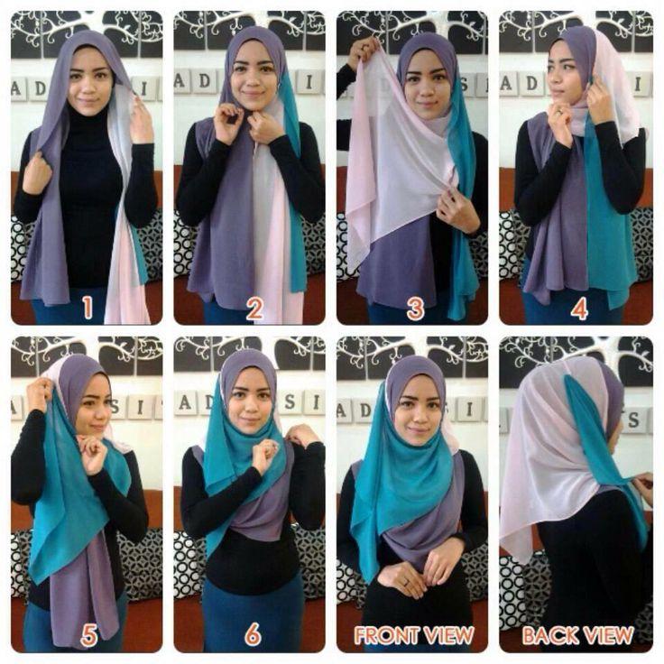 #shawl #hijab #tutorial #colorblock