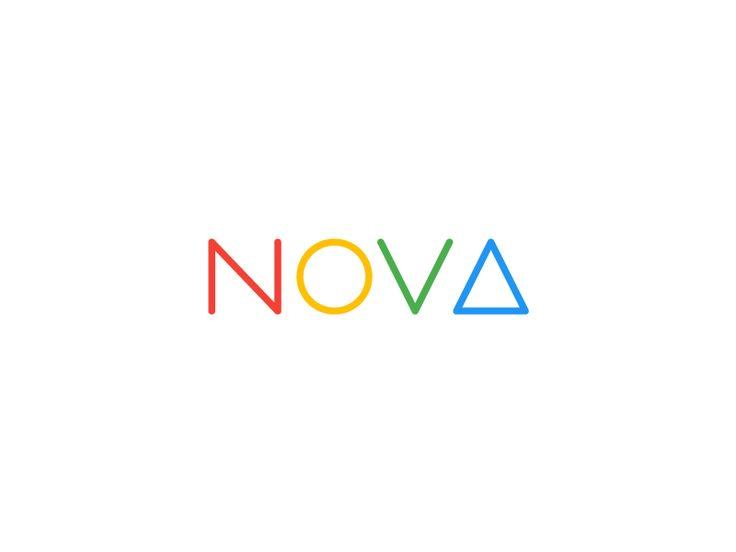 Nova. Colored logo by Vincent Le Moign