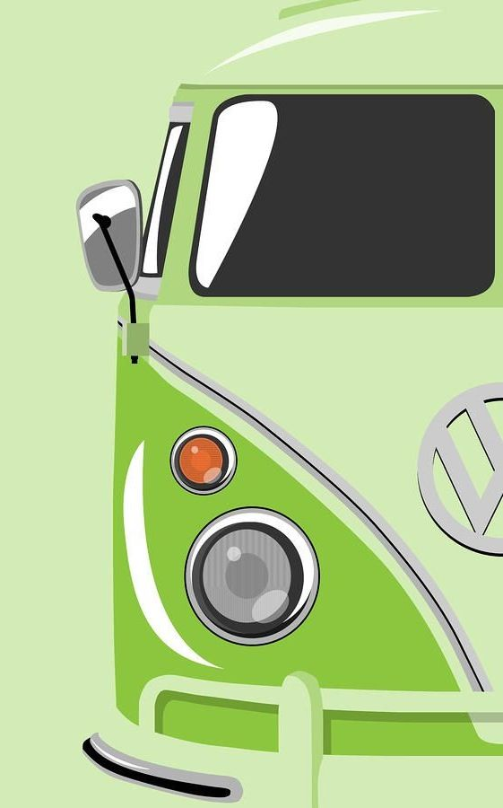 Make 4 different colors (staying mostly monochromatic), all focusing on different parts of the VW Bus... *This one is really for me :)