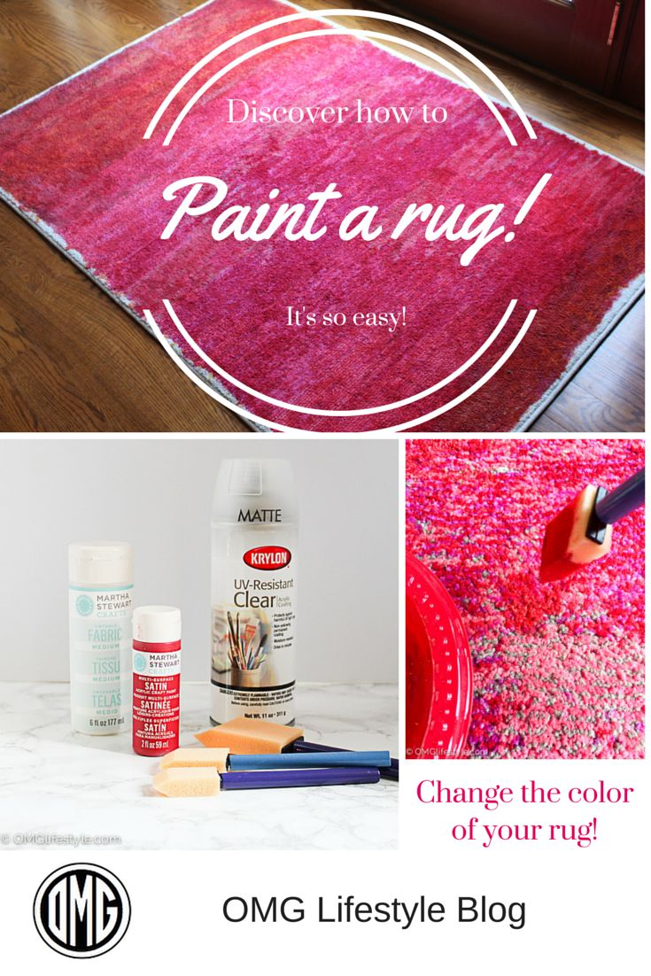Discover how easy it is to paint a rug!