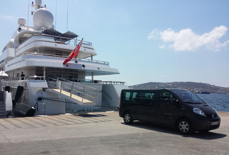 Private Driver Service by Mini Van - Titania Yacht @ Mykonos port