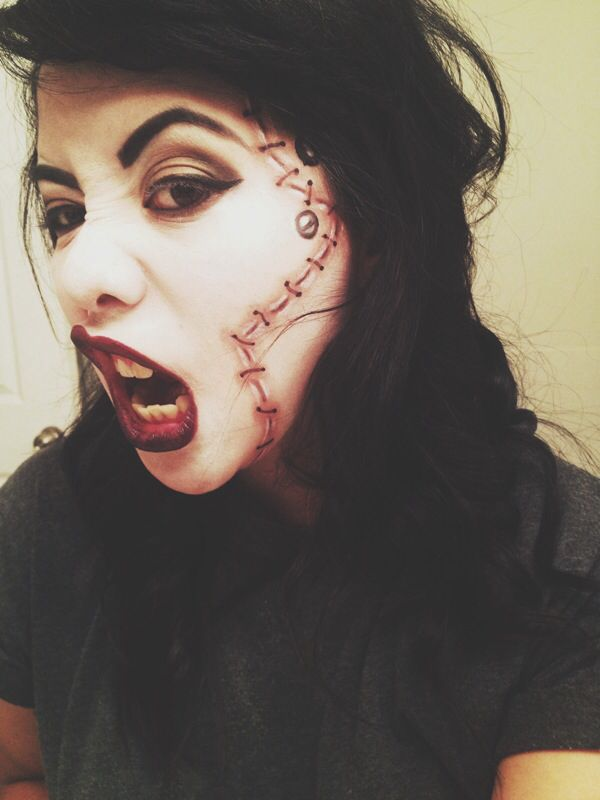 Gallery For > Pretty Bride Of Frankenstein Makeup