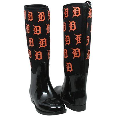 Cuce Shoes Detroit Tigers Womens Enthusiast II Rain Boots - Black. I want these soooo badly! detroittigers.com ladyfanatics.com