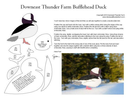 bufflehead duck pattern