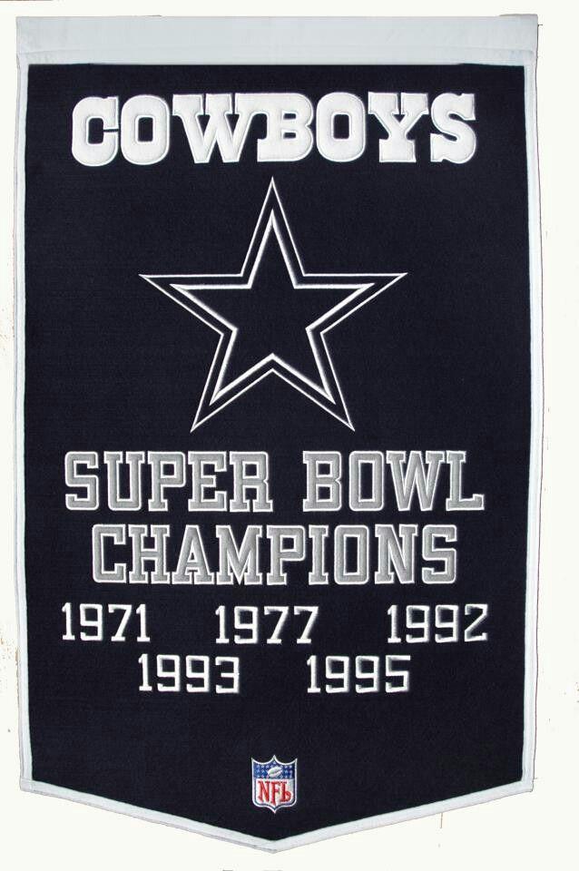 Dallas Cowboys Super Bowl Champions 1971, 1977, 1992, 1993, 1995