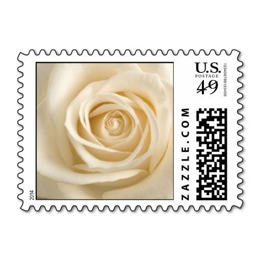 Ivory Rose Wedding Postage This Great Stamp Design Is Available For Customization Or Ready To