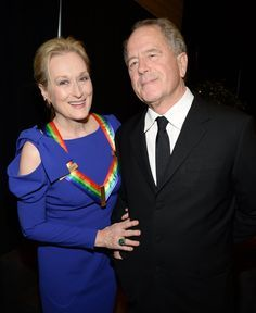 Meryl Streep and husband Don Gummer kept close while attending the December 2014 Kennedy Center Honors in Washington DC.