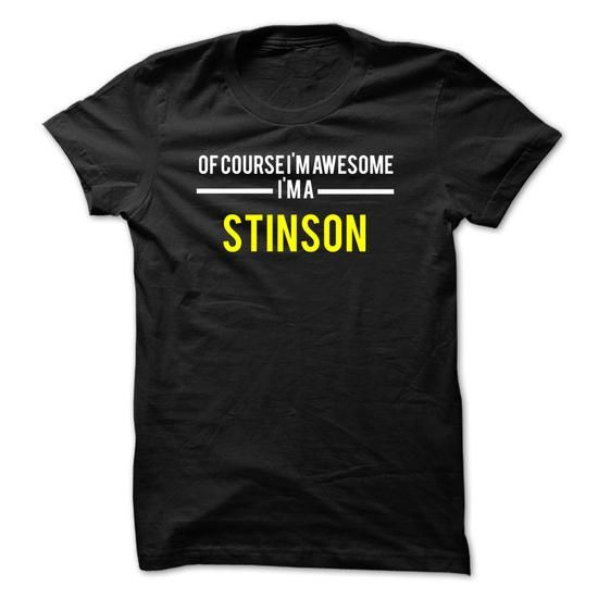 Of course Im awesome Im a STINSON - #candy gift #gift exchange. WANT THIS => https://www.sunfrog.com/Names/Of-course-Im-awesome-Im-a-STINSON-1FC1D6.html?68278