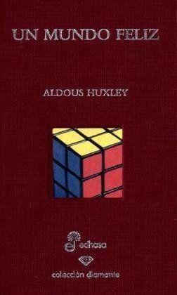 """UN MUNDO FELIZ Posiblemente la novela más leída de Huxley, y su influencia es evidente tanto en buena parte de la novela de ciencia ficción de calidad como en las novelas filosóficas. Presenta un mundo en el que el Estado controla hasta el más mínimo detalle de la vida de los individuos, a los que mantiene en una ignorancia, producto de un depurado """"lavado de cerebro""""."""