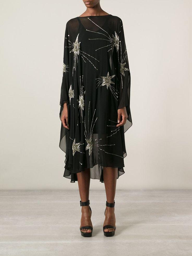 Saint Laurent Robe Transparente À Détails De Broderies - Stefania Mode - Farfetch.com
