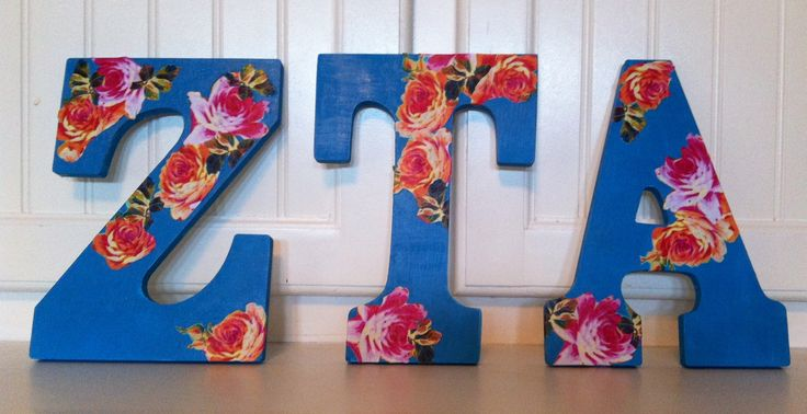 ZTA letters I made for my future little