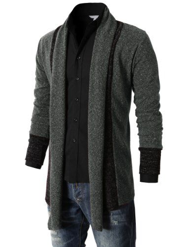H2H Men's Shawl Collar Cardigan With No Button - List price: $45.99 Price: $28.99