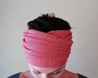 MALVA testa sciarpa  Jersey Yoga Fascia  Dusty Rose capelli