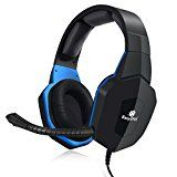 EasySMX PS4 Xbox One Gaming Headset for PS4 and Mobile Phone, PC, for Xbox One via An Adapter (NOT INCLUDED IN THE PACKAGE) Black