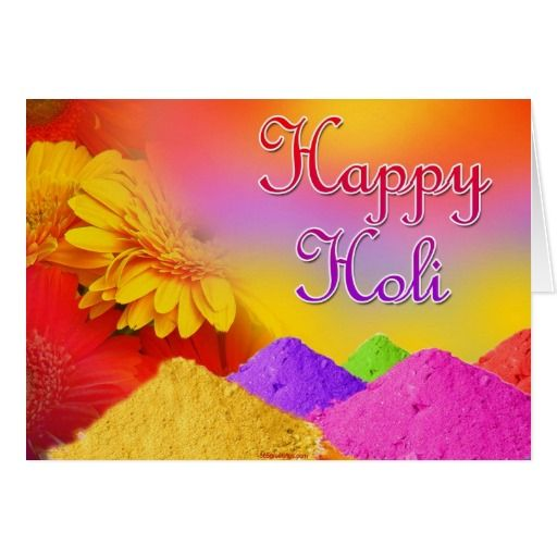 Happy Holi Card #Holi #greeting #card