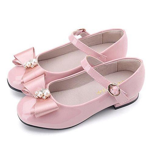 d6ff2b29cb17 ADOR® Girls' Shoes Patent Leather Spring Comfort / Flower Girl Shoes Flats  for Black / Blue / Pink 2019 - US $24.49