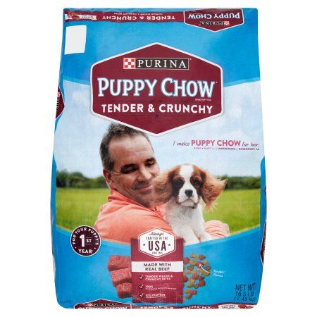 Purina Puppy Chow Tender and Crunchy Puppy Food 16.5 lb. Bag