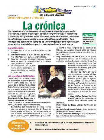 Características y función de las crónicas