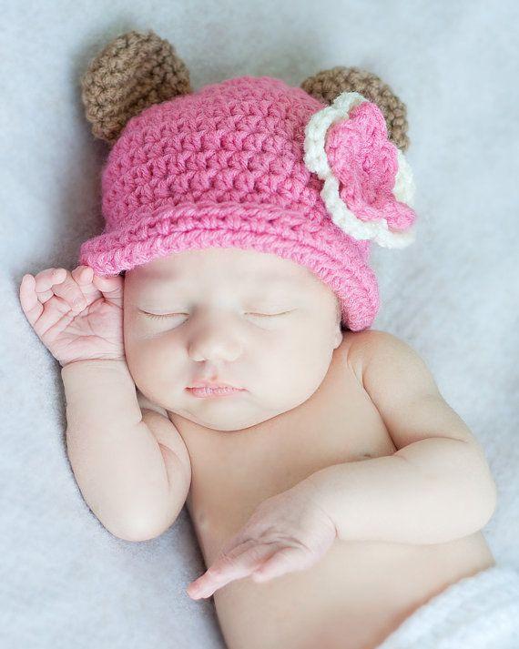 Baby Bear HatNewborn Crochet Hat Baby Boy Hat by Sebastianseven